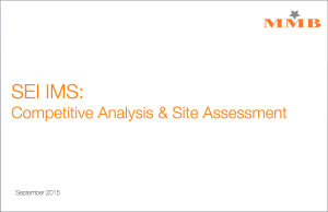 Competitive Analysis and Site Assessment